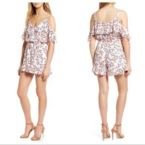 Cupcakes & Cashmere Audrian Cold Shoulder Romper